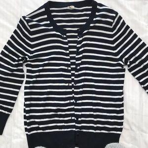 Jcrew Factory stripe cardigan